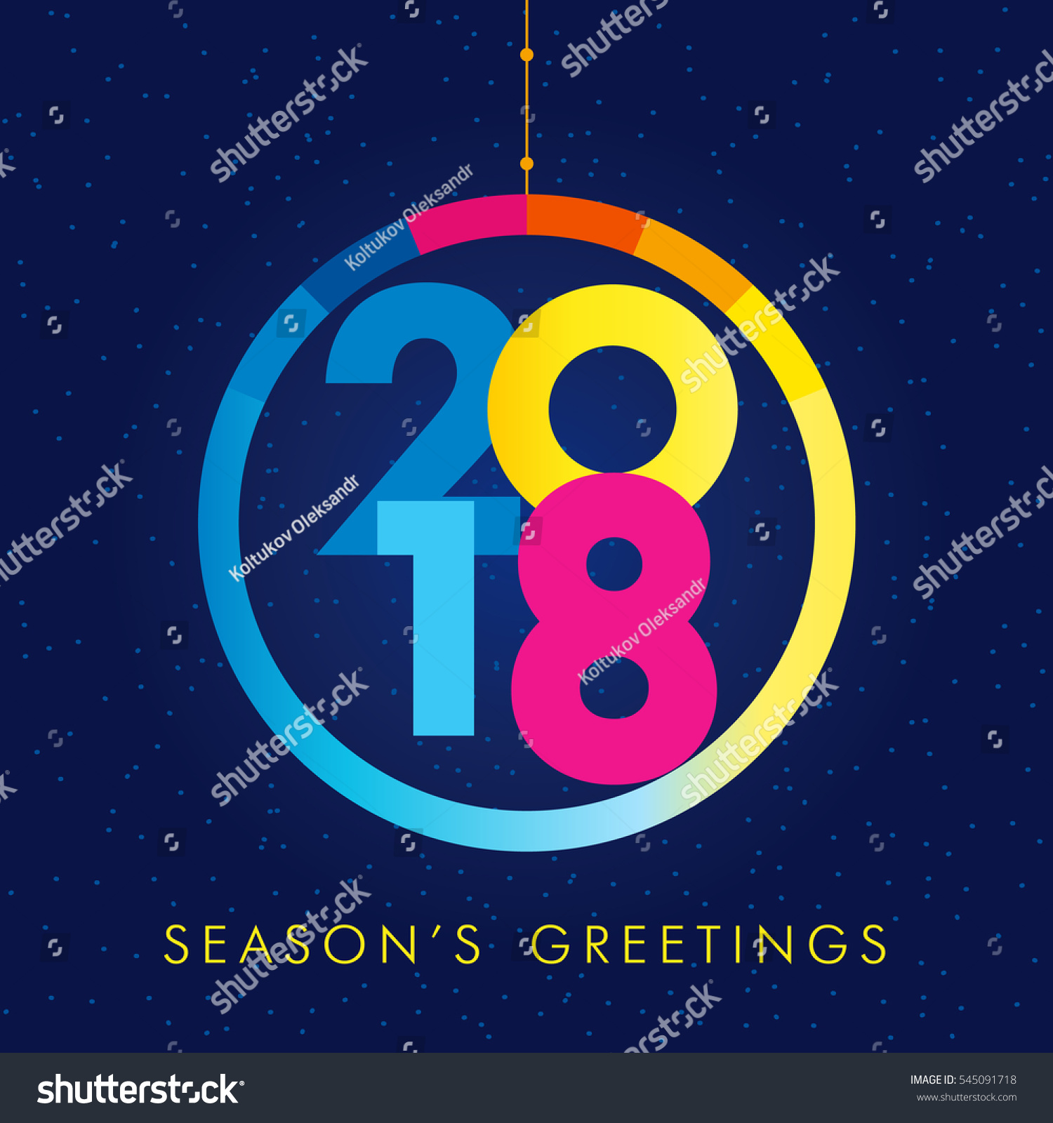 Christmas Ball Consisting Colored Vector 2018 Stock Vector ...