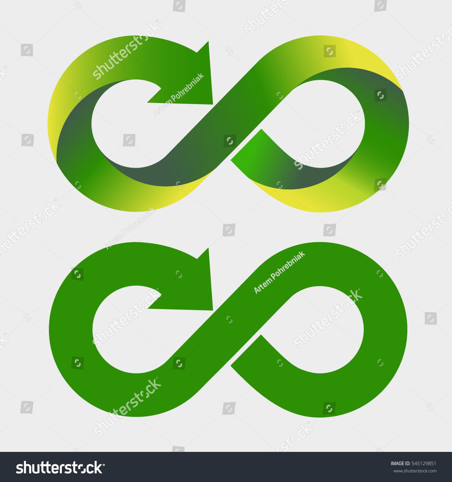Modern Recycling Logo Infinity Sign Symbol Stock Vector Royalty