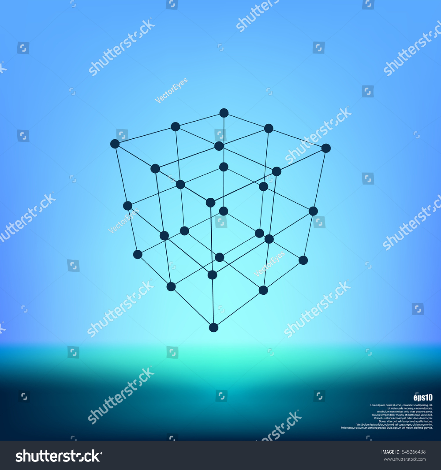 Wire Frame Polygonal Element Cube Lines Stock Photo (Photo, Vector ...