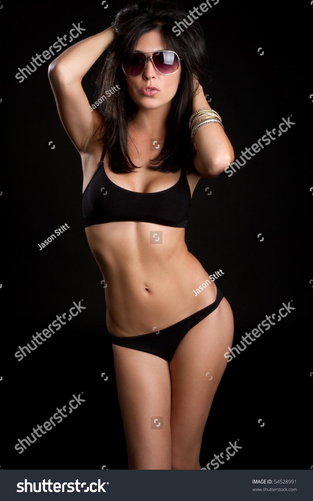 beautiful sexy latina bikini woman stock photo (royalty free