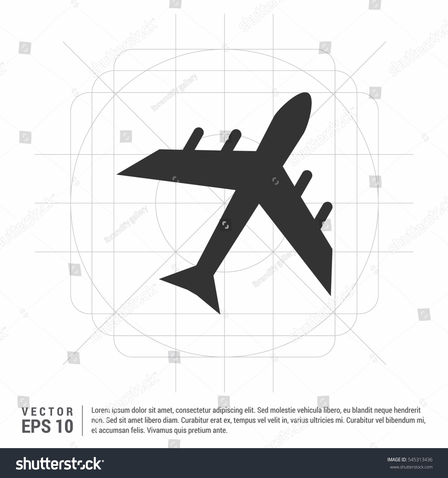 Airplane Flight Tickets Air Fly Travel Stock Vector Royalty Free