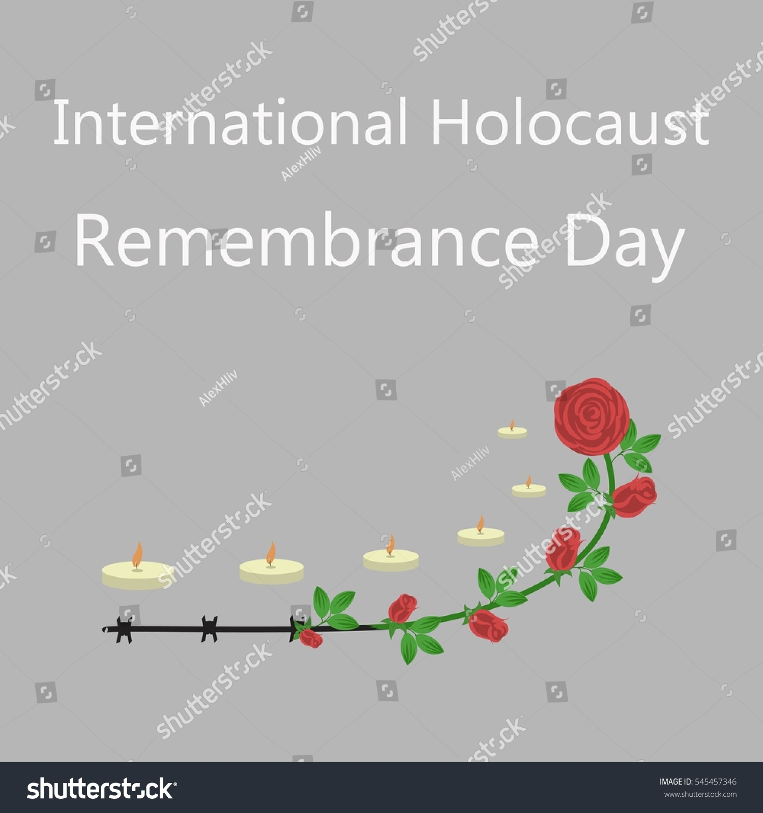 International Holocaust Survivor Remembrance Day Red Stock ...