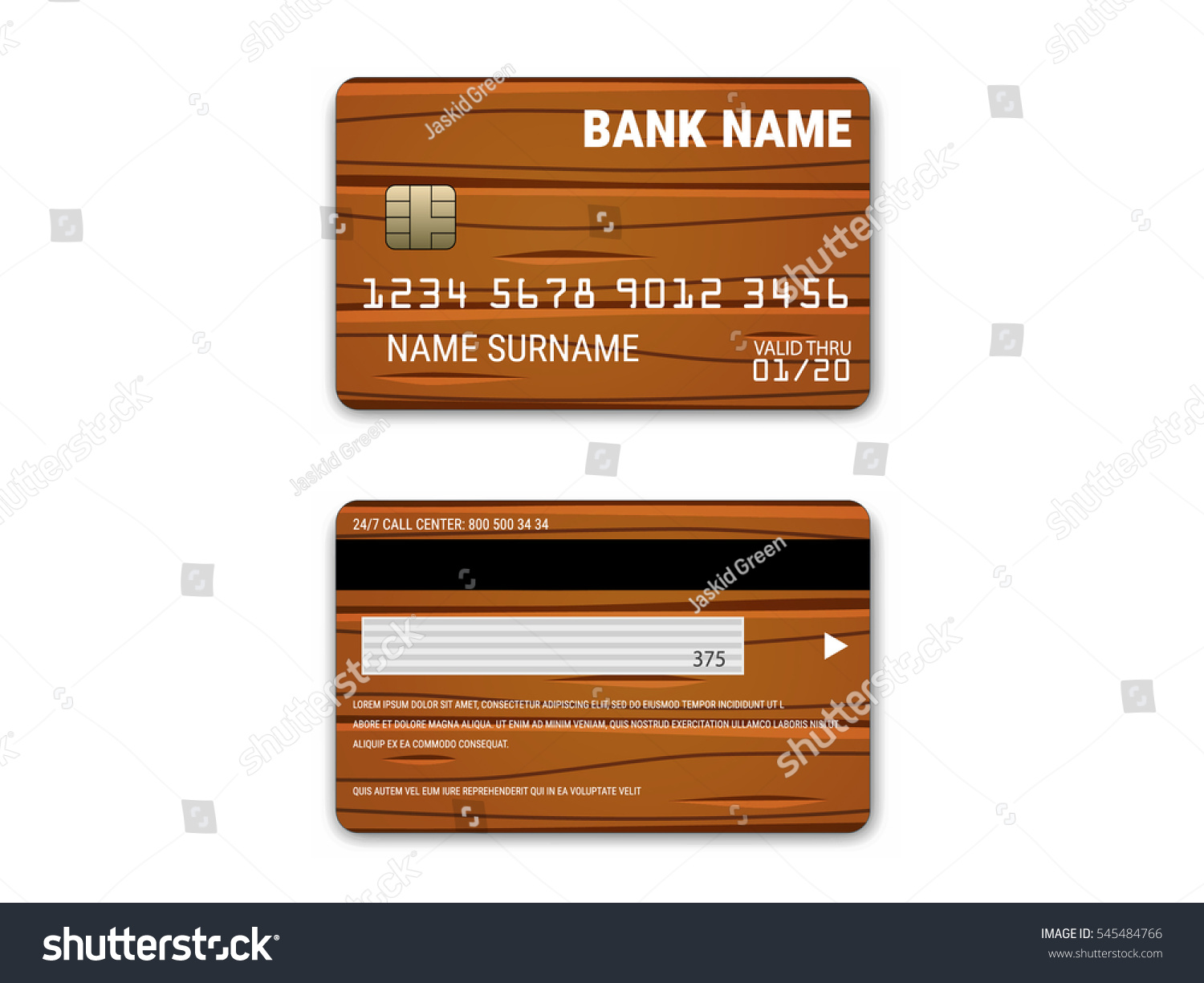 Comics Style Credit Card Template Vector Stock Vector Royalty Free