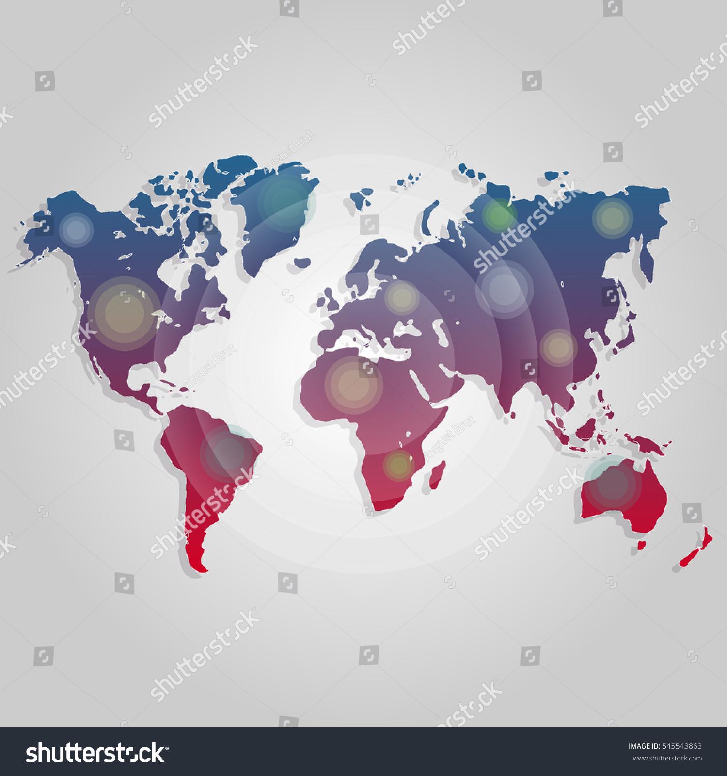 Map Design Website Template: Vector World Map Connection Worldmap Template Stock Vector
