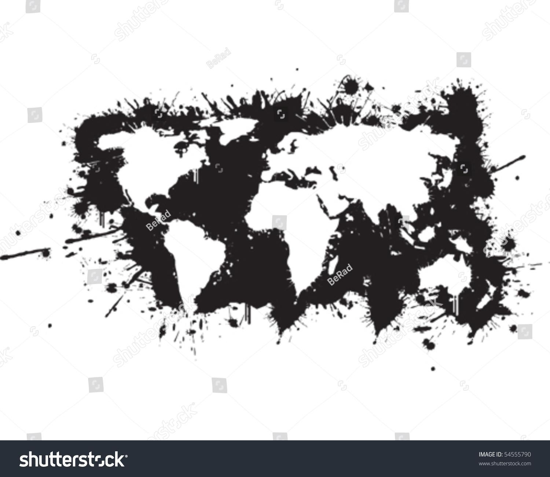 World map graffiti reverse vector de stock54555790 shutterstock gumiabroncs Image collections