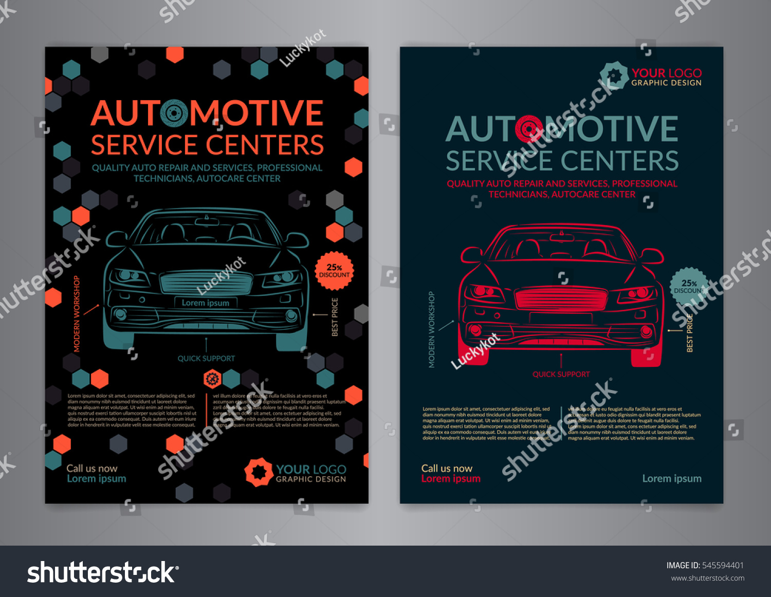 Automotive Service Centers Business Layout Templates Stock Vector HD ...