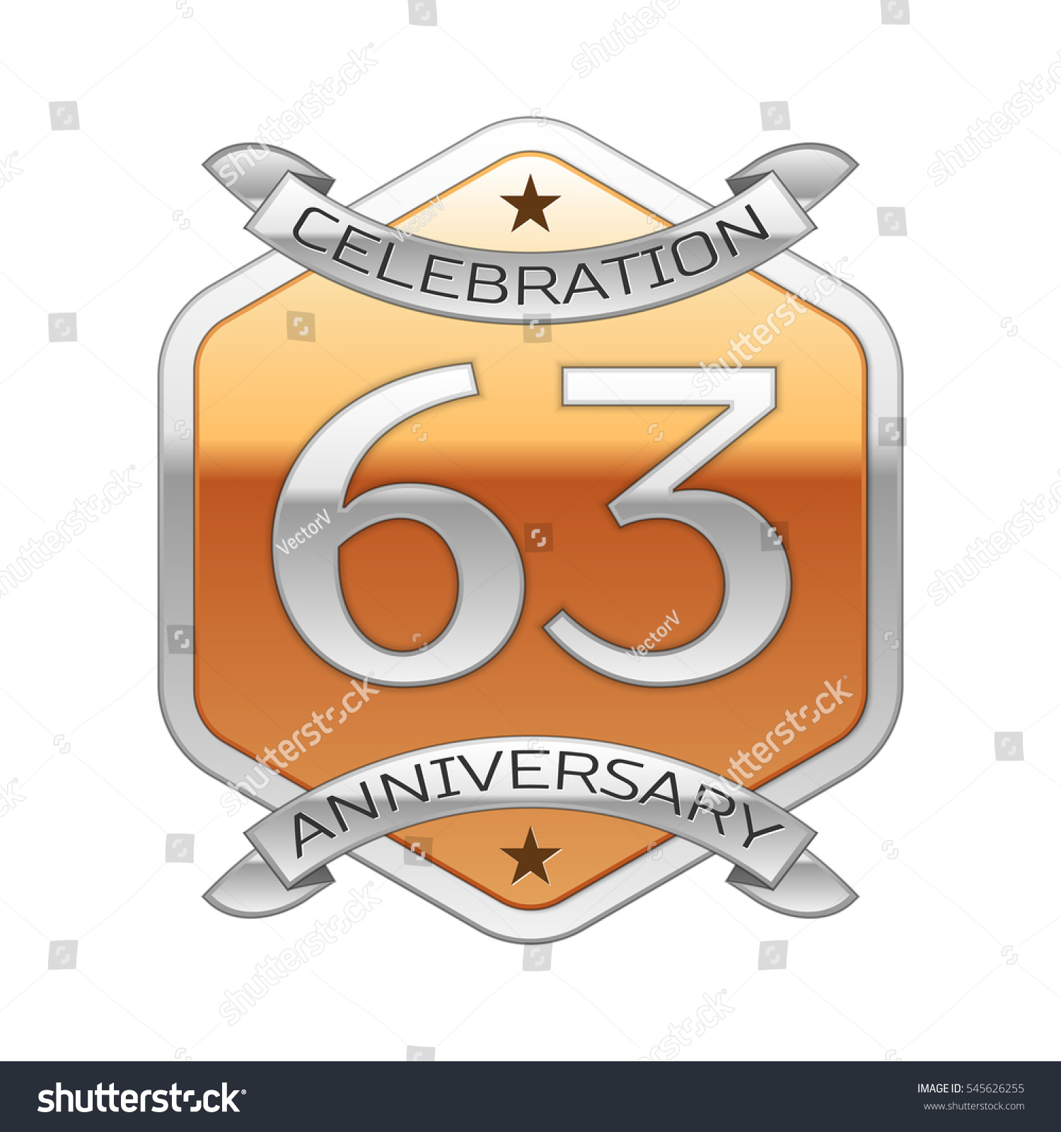 sixty three years anniversary celebration silver stock illustration 545626255 shutterstock. Black Bedroom Furniture Sets. Home Design Ideas
