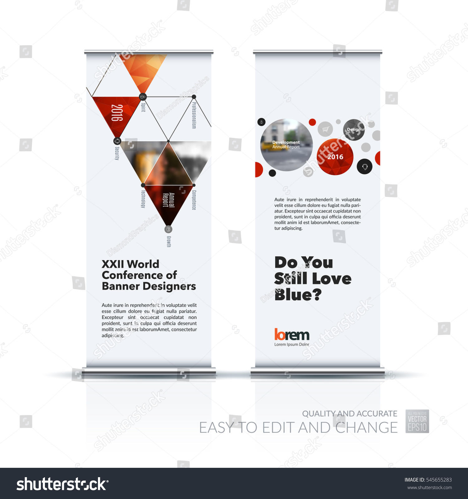 Exhibition Stand Design Presentation : Abstract business vector set modern roll stock