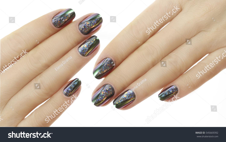 Nail Design Manicure Nail Paint Beautiful Stock Photo (Royalty Free ...