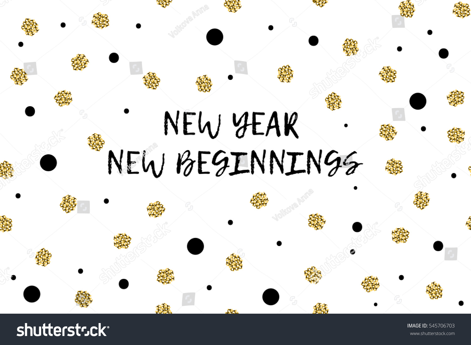 New Year Greeting Card Text Black Stock Vector (Royalty Free ...