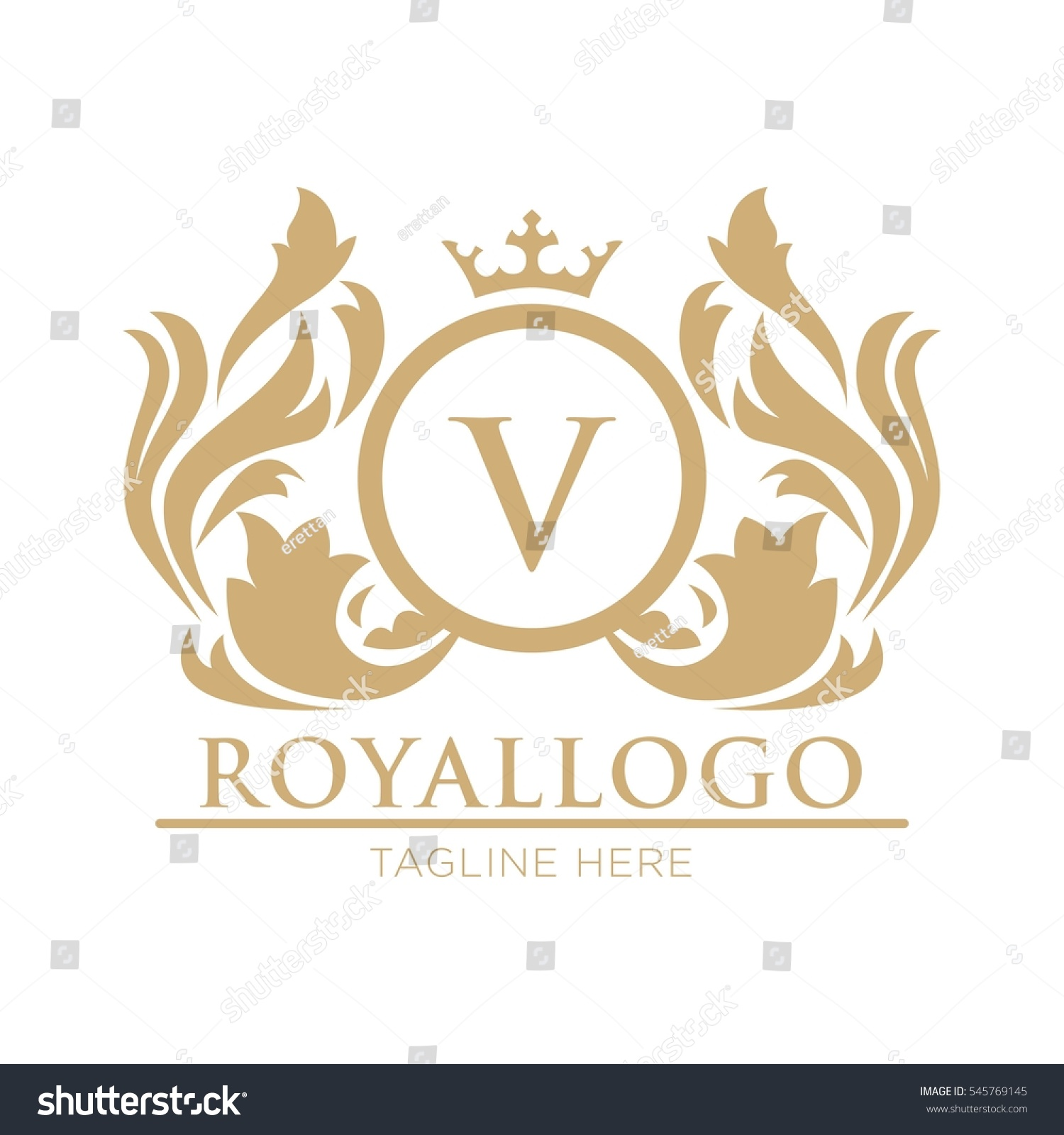 royal logo design template stock vector 545769145 shutterstock. Black Bedroom Furniture Sets. Home Design Ideas