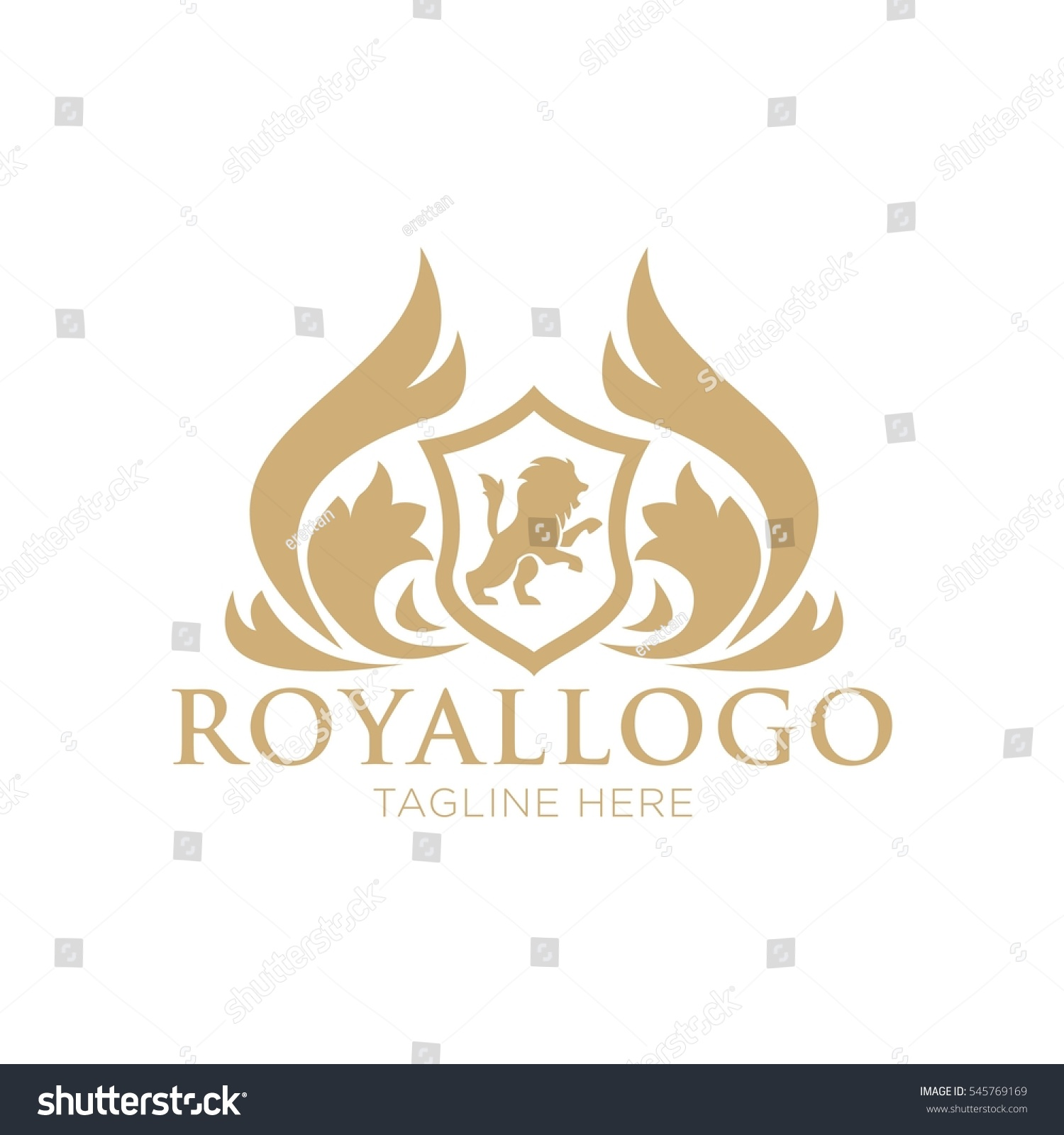 royal logo design template stock vector 545769169 shutterstock. Black Bedroom Furniture Sets. Home Design Ideas