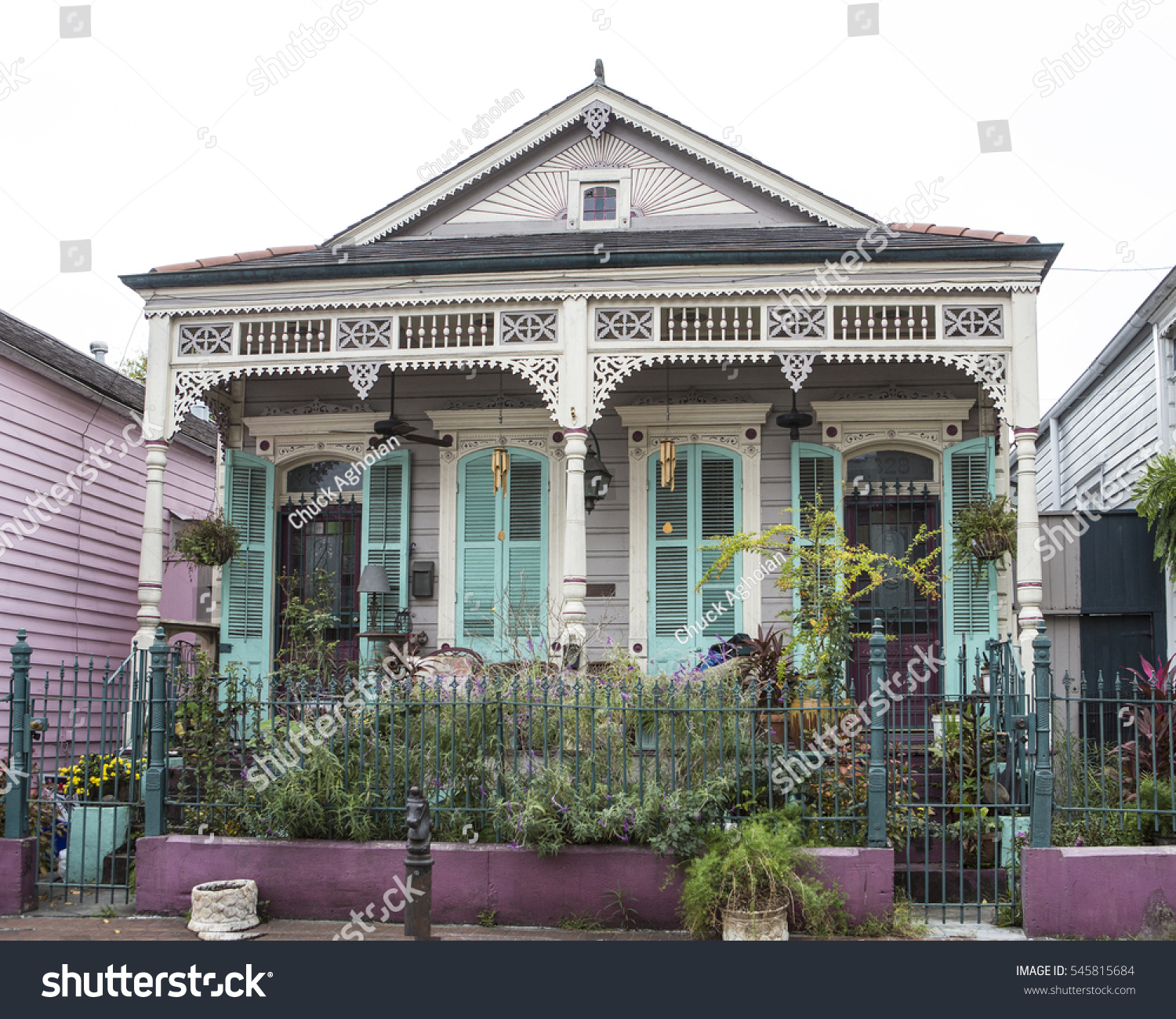 Home French Quarter New Orleans Louisiana Stock Photo