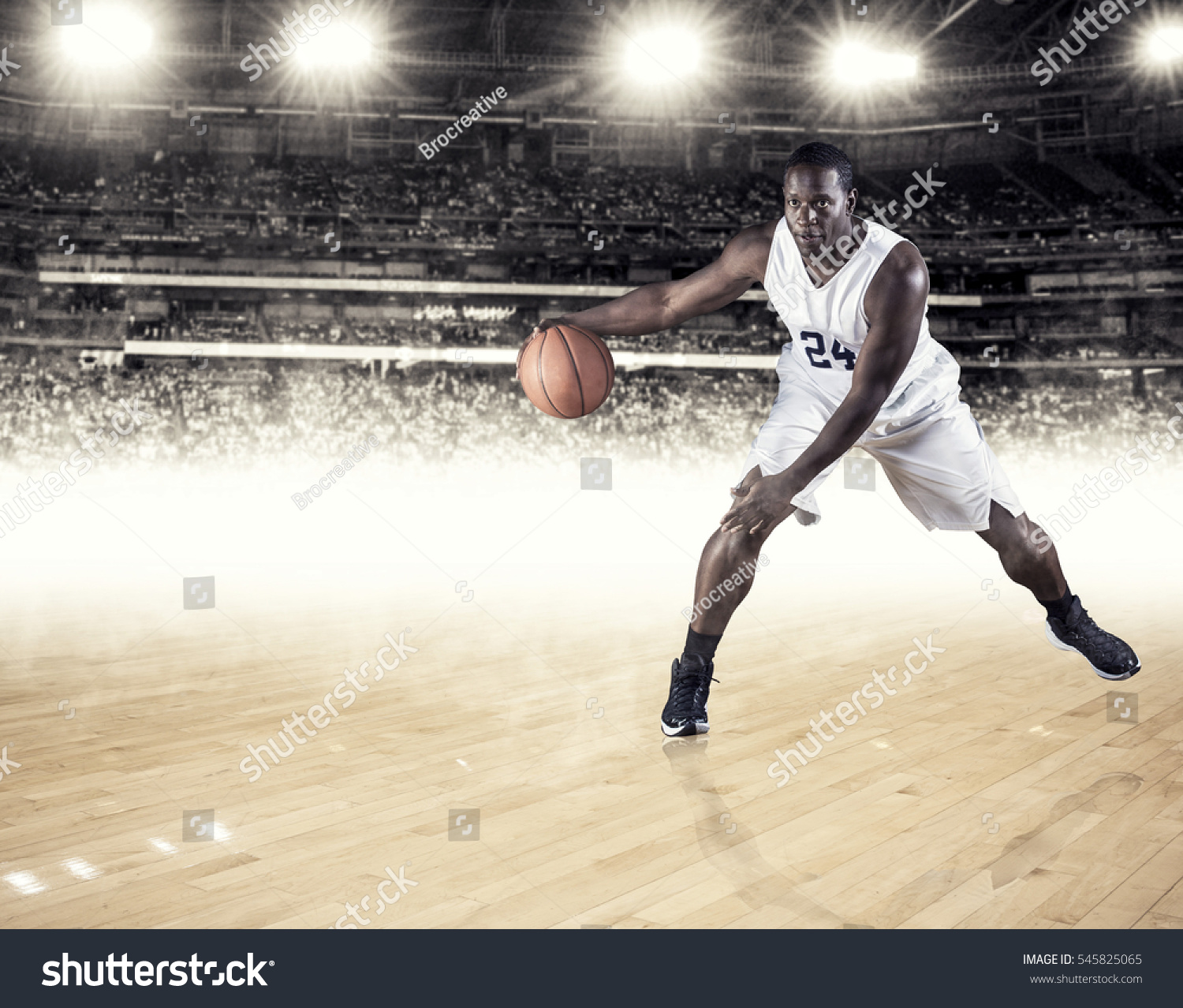 strong athletic african american basketball player stock photo 545825065