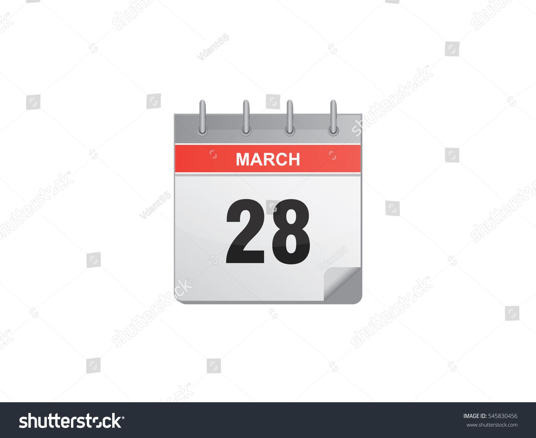 Calendar Illustration Search : March calendar vector illustration on white background