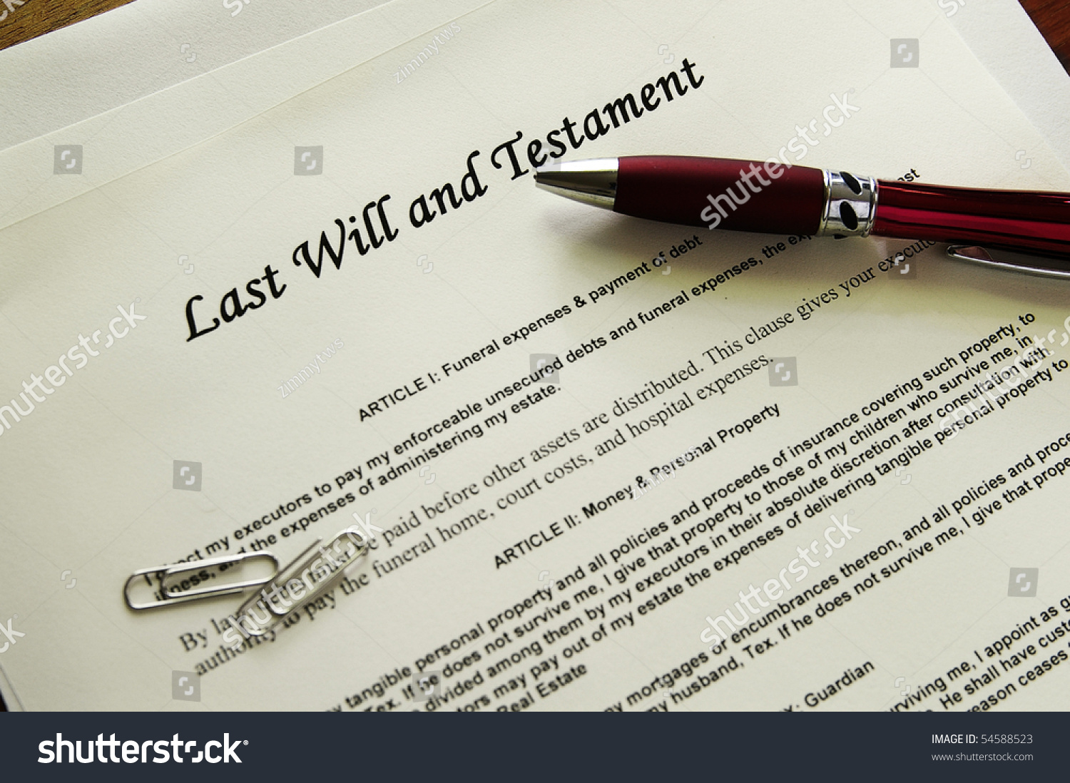 last will and testament forms