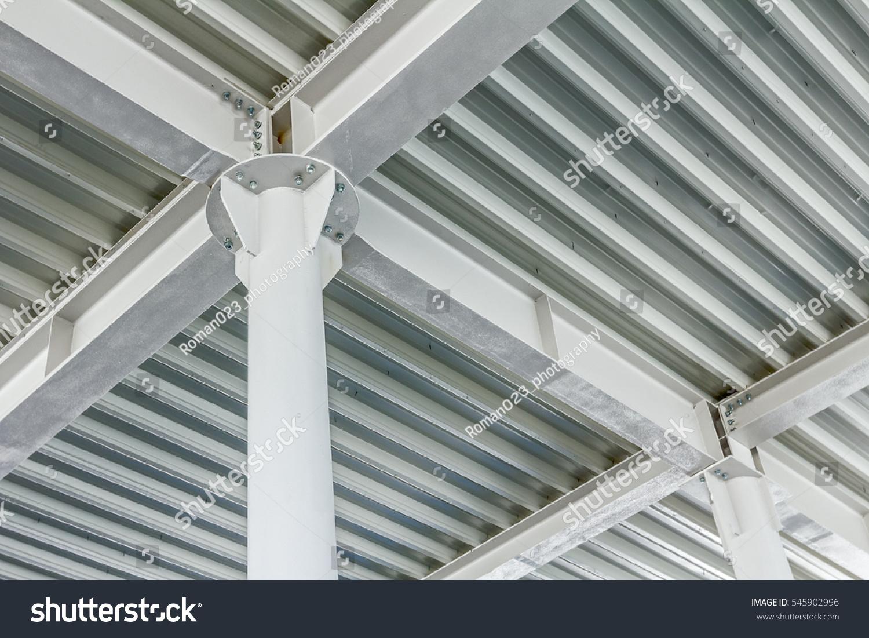 View Below On New Ceiling Pillars Foto de stock (libre de regalías ...