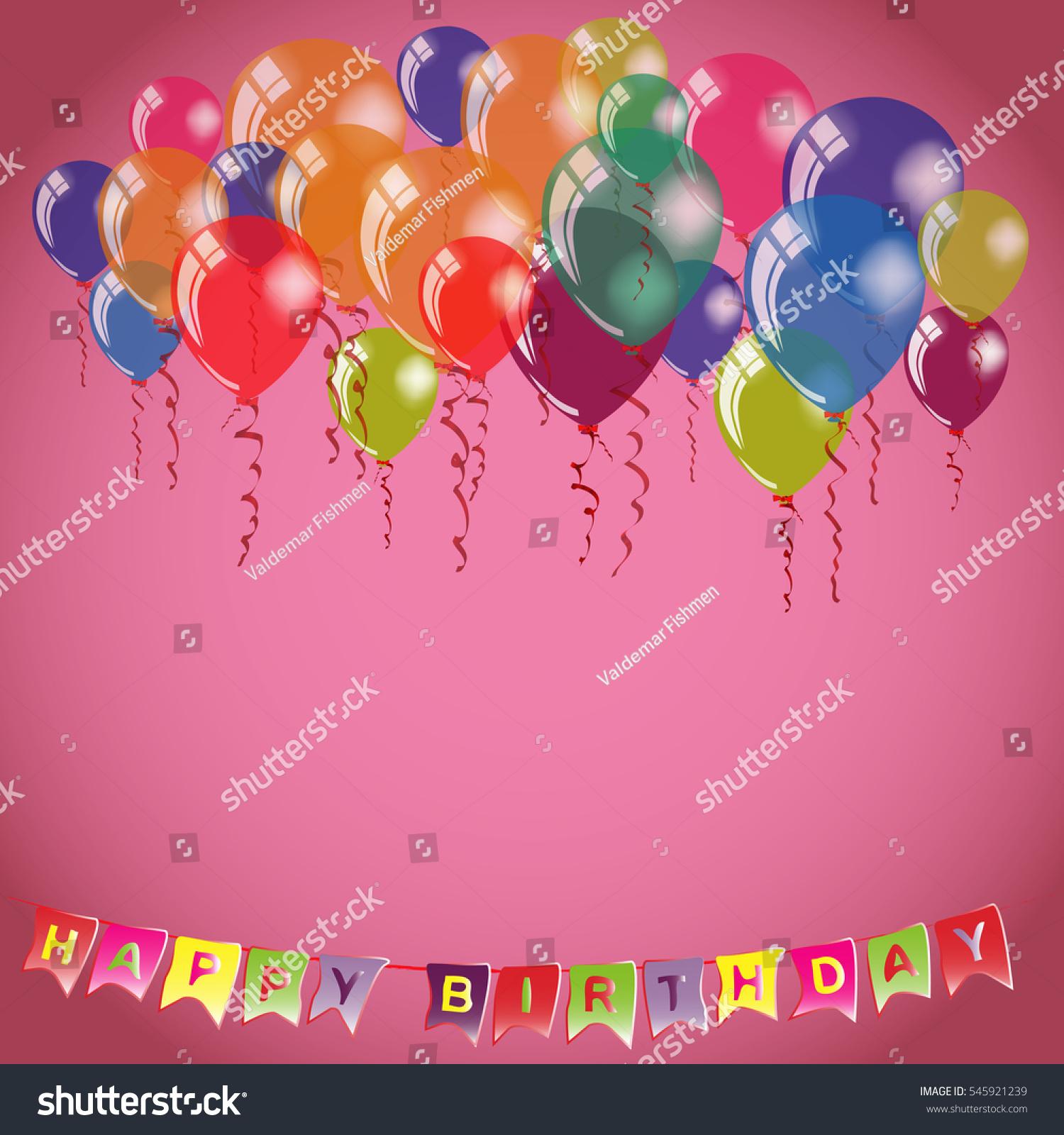 Happy Birthday Invitation Congratulation Card Template Stock