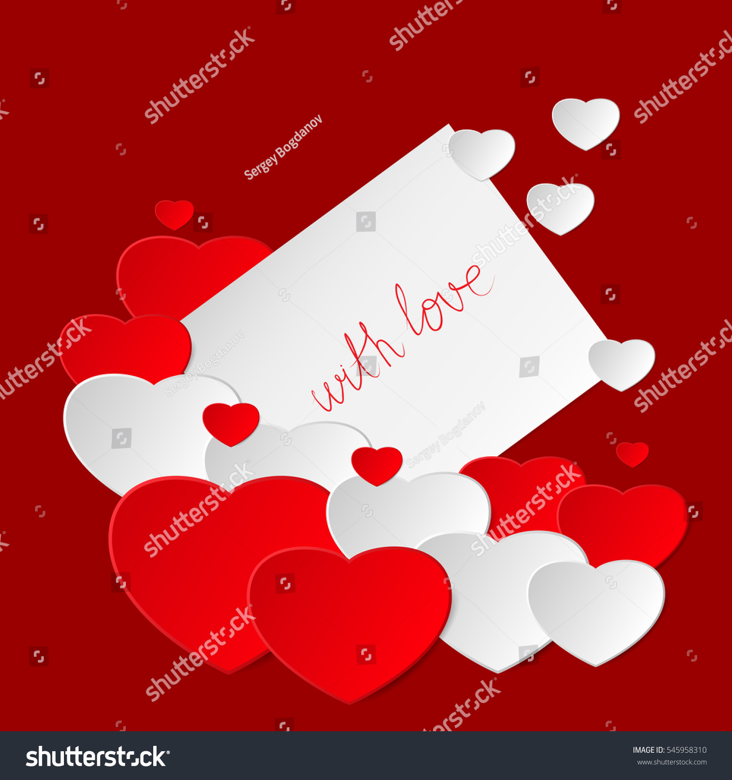 Happy valentines day valentine greeting card stock vector 545958310 happy valentines day valentine greeting card with hearts love romantic messages vector illustration m4hsunfo