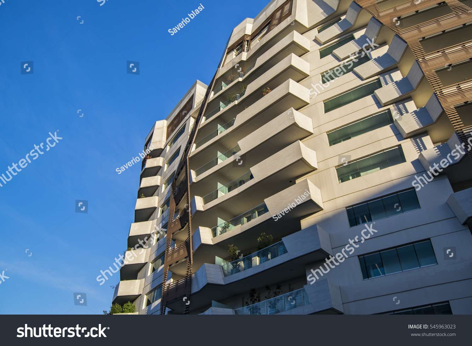 City Life Building View Modern Architecture Stock Photo 545963023