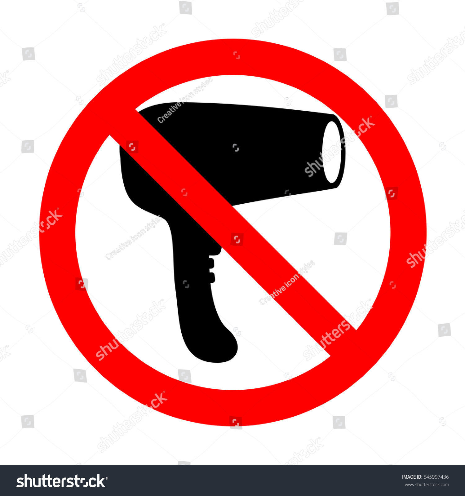 No hair dryer sign stock vector 545997436 shutterstock no hair dryer sign biocorpaavc Choice Image
