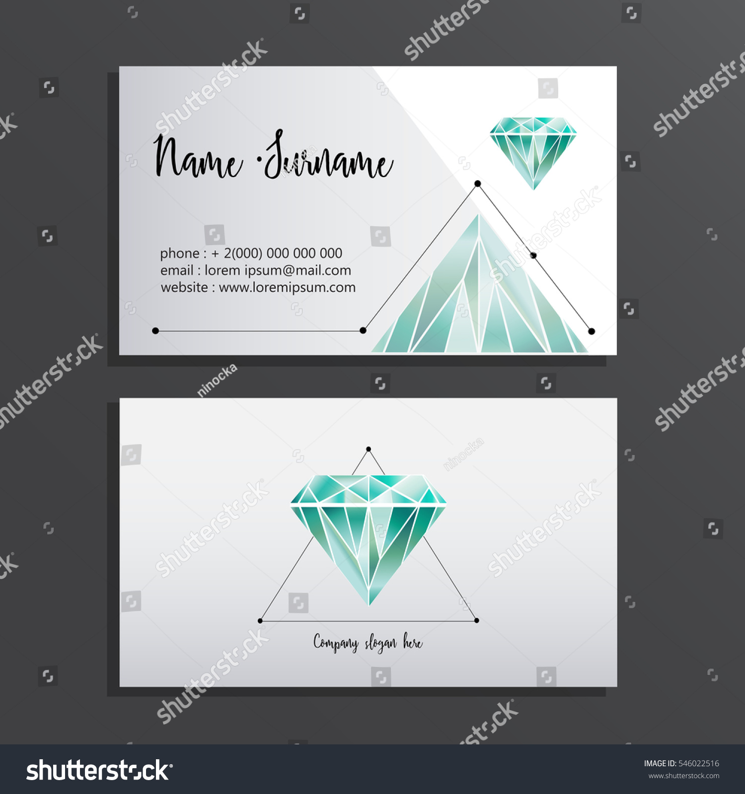 Elegant Business Card Abstract Business Card Stock Vector ...