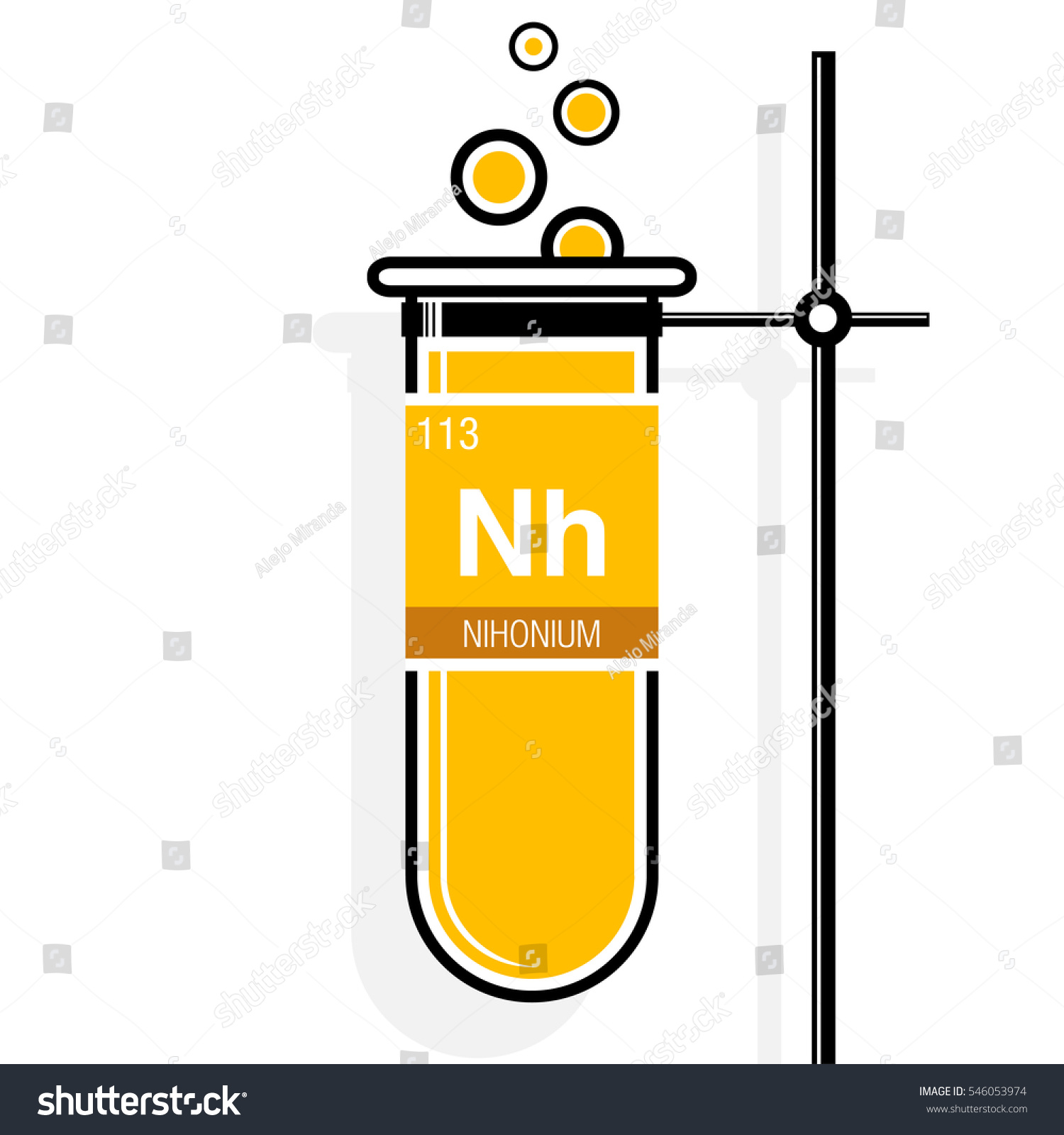 Nihonium symbol on label yellow test stock vector 546053974 nihonium symbol on label in a yellow test tube with holder element number 113 of gamestrikefo Image collections