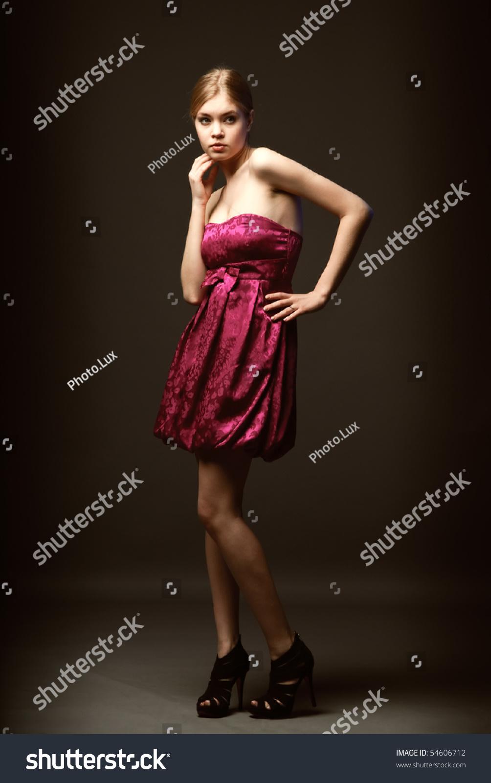 Pink Dress With Black Heels
