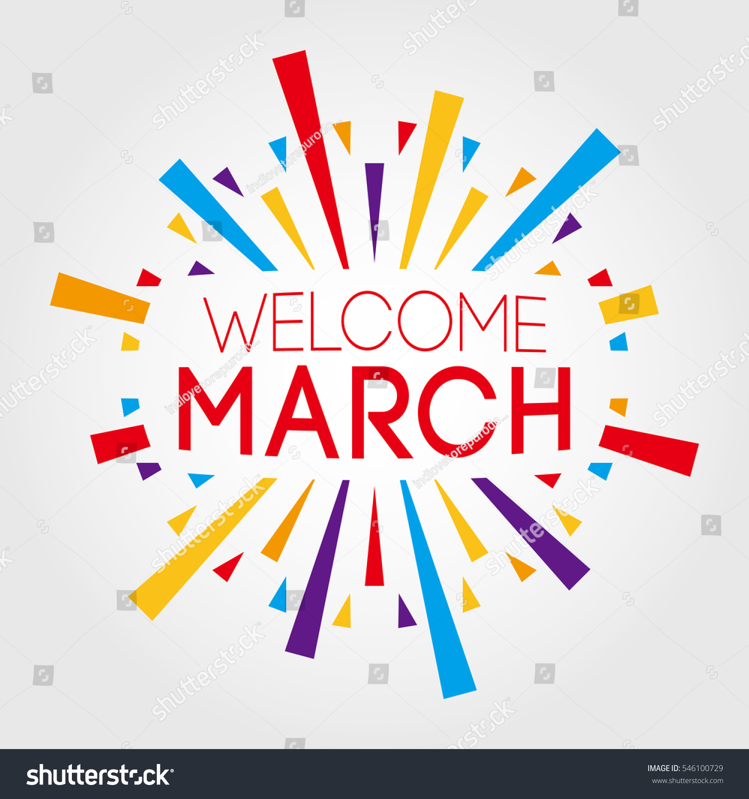 Welcome march vector illustration poster banner stock vector welcome march vector illustration poster banner stock vector 546100729 shutterstock pronofoot35fo Gallery