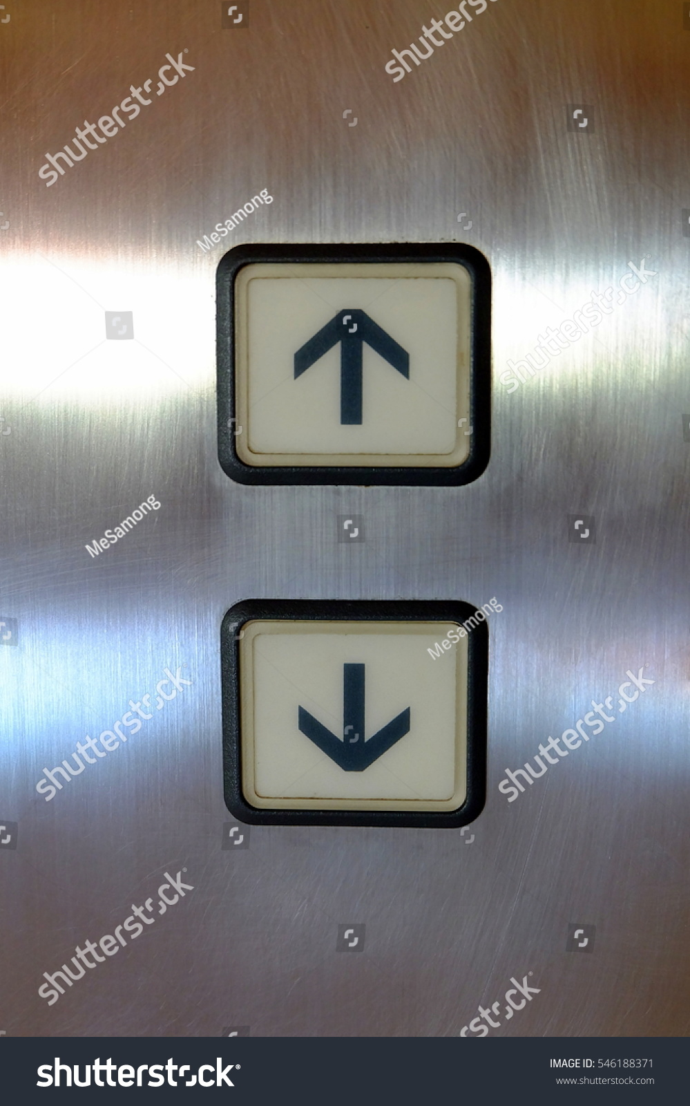 Elevator buttons arrow down stock photo 546188371 shutterstock elevator buttons arrow up and down biocorpaavc Choice Image