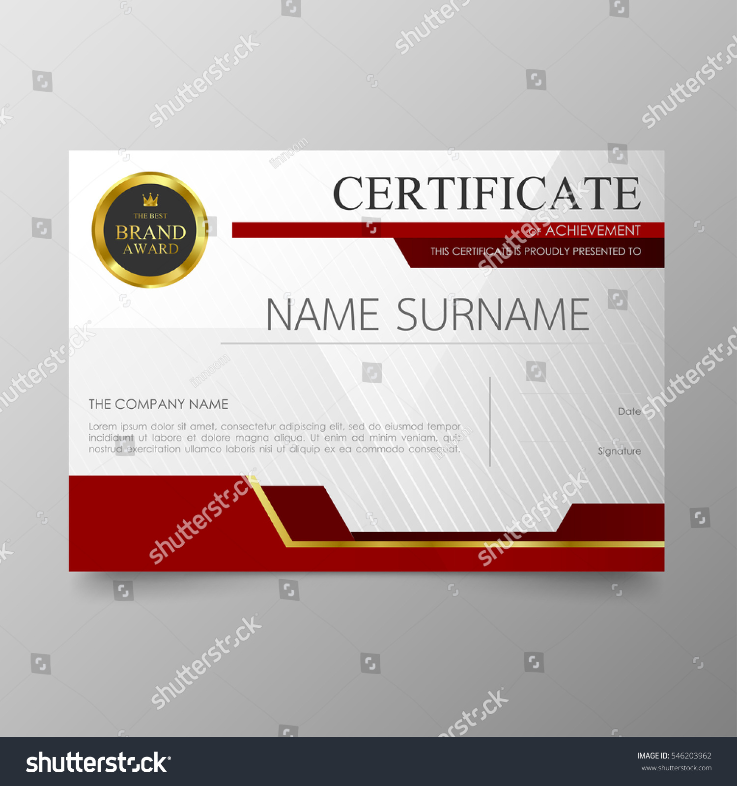 Certificate template awards diploma background vector stock vector certificate template awards diploma background vector modern value design and luxurious layout leaflet cover elegant yelopaper Gallery