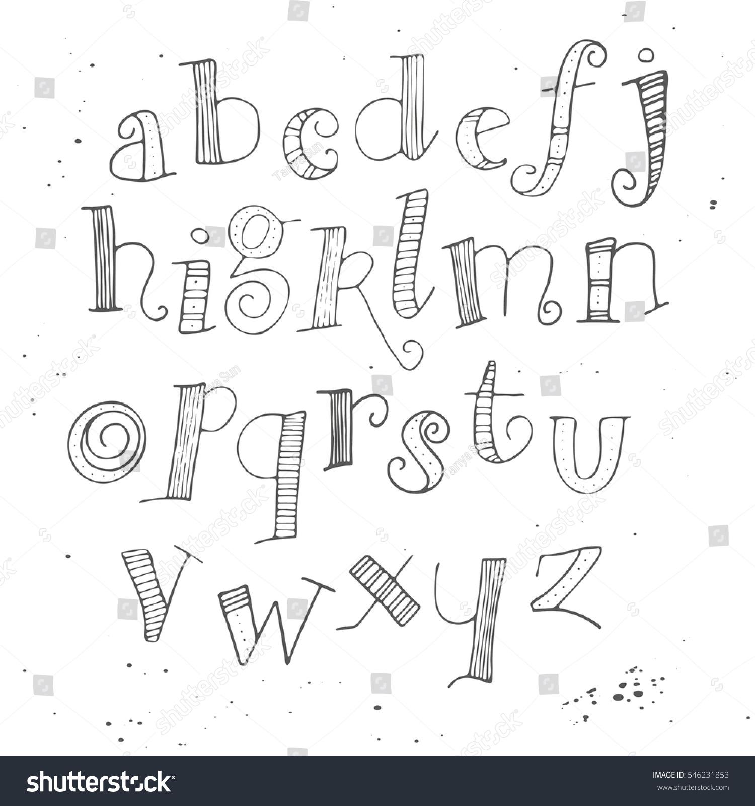 Handwritten Calligraphy Ink Font Unique Alphabet Vector – Handwritten Calligraphy Wedding Invitations