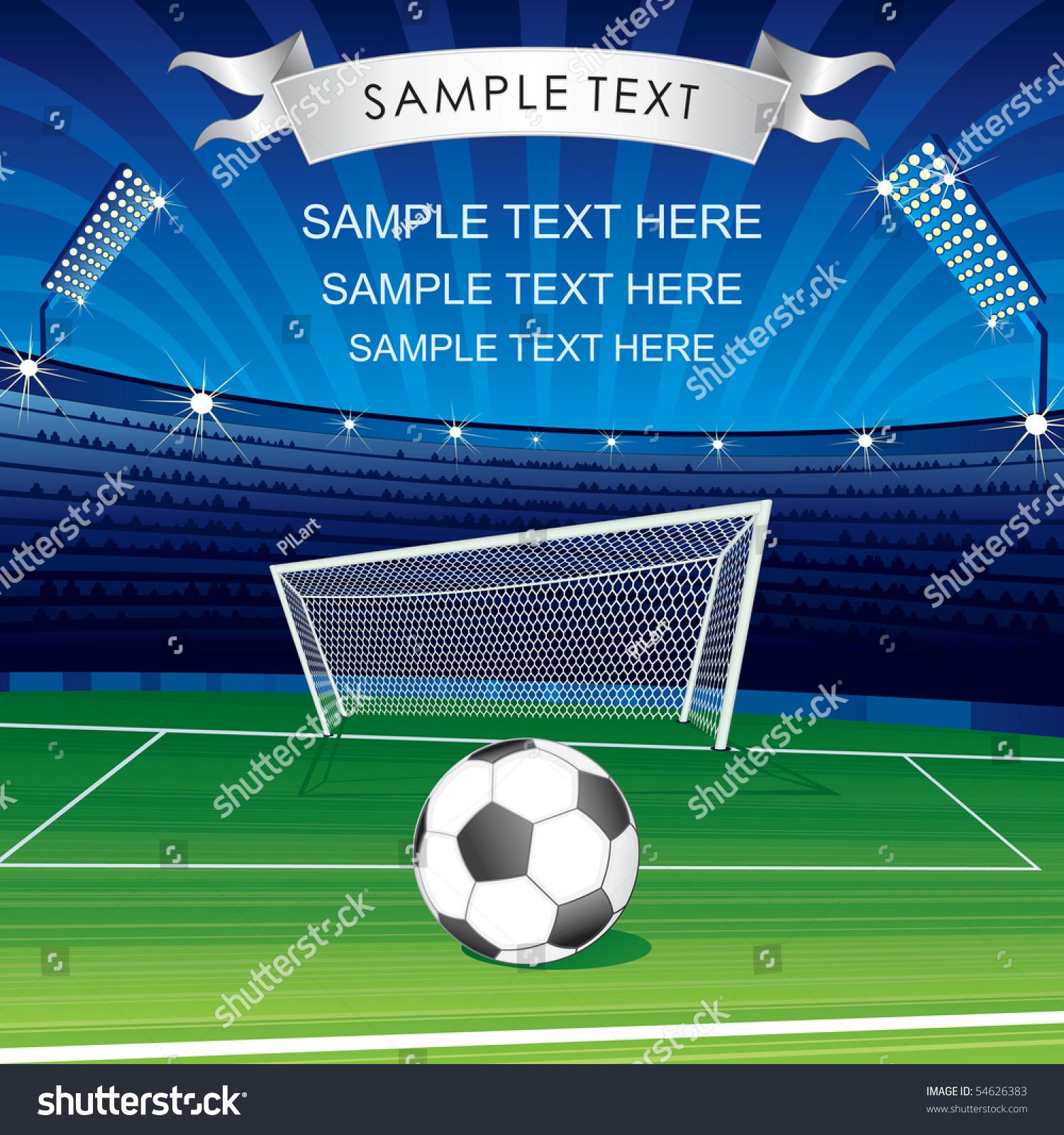 Football Champions League Theme Vector Poster Stock Vector