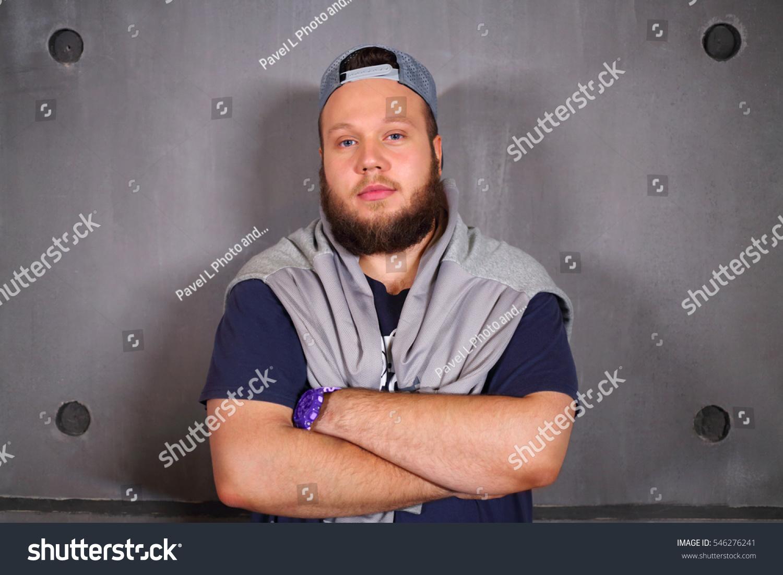 Handsome fat man