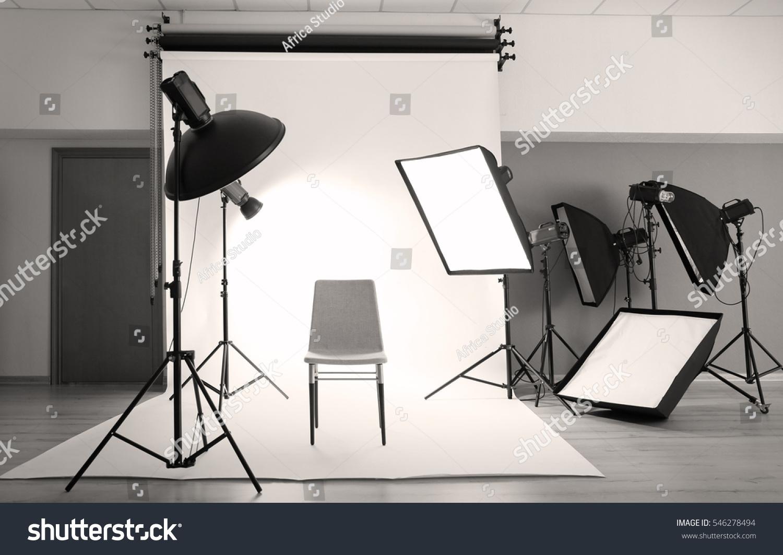 Professional photo studio with lighting equipment & Professional Photo Studio Lighting Equipment Stock Photo 546278494 ... azcodes.com