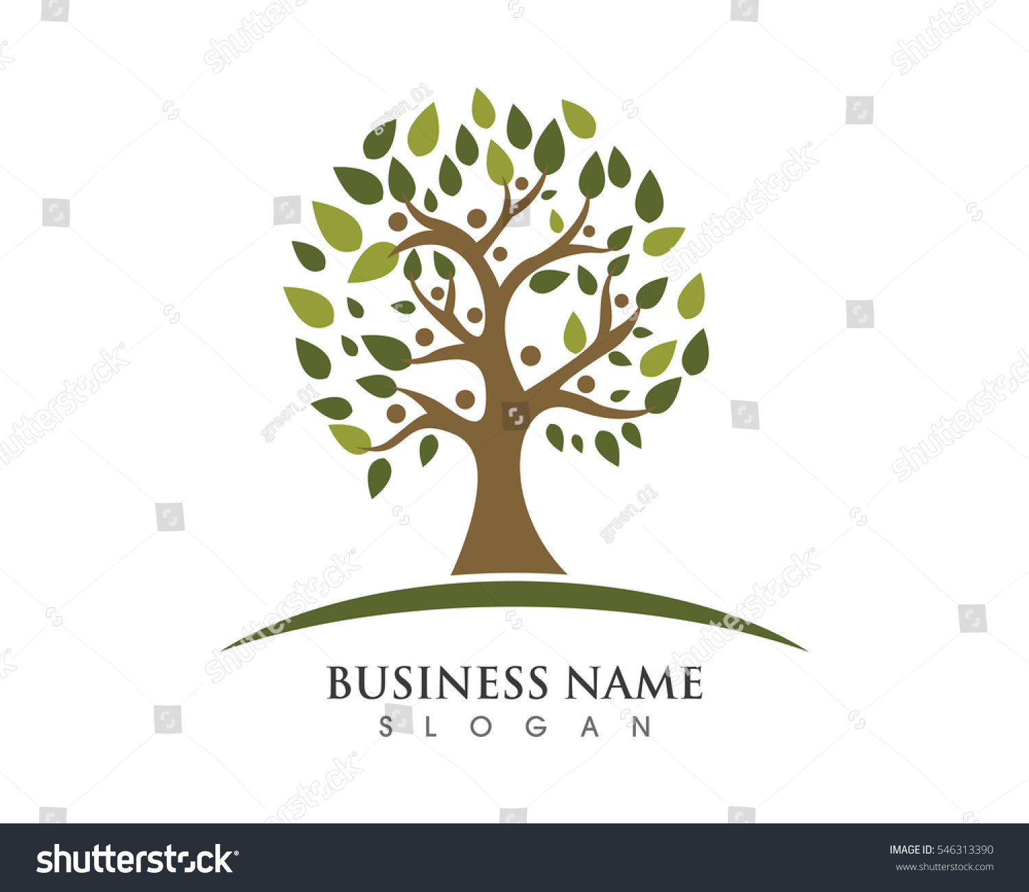 Family Tree Template Vector Icon Design Stock Vector Royalty Free