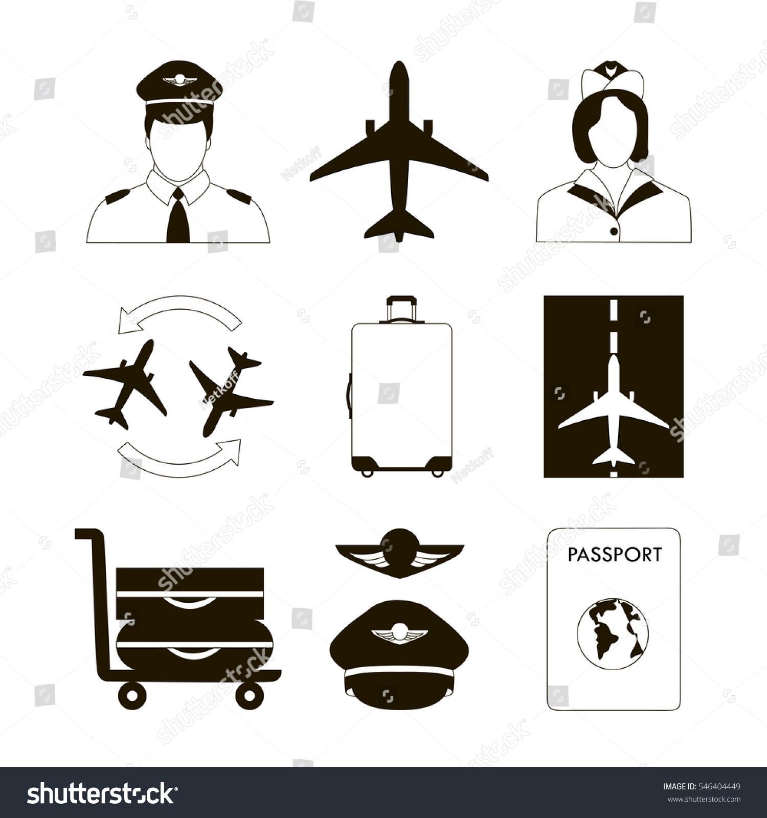Самолет пилот абстракция
