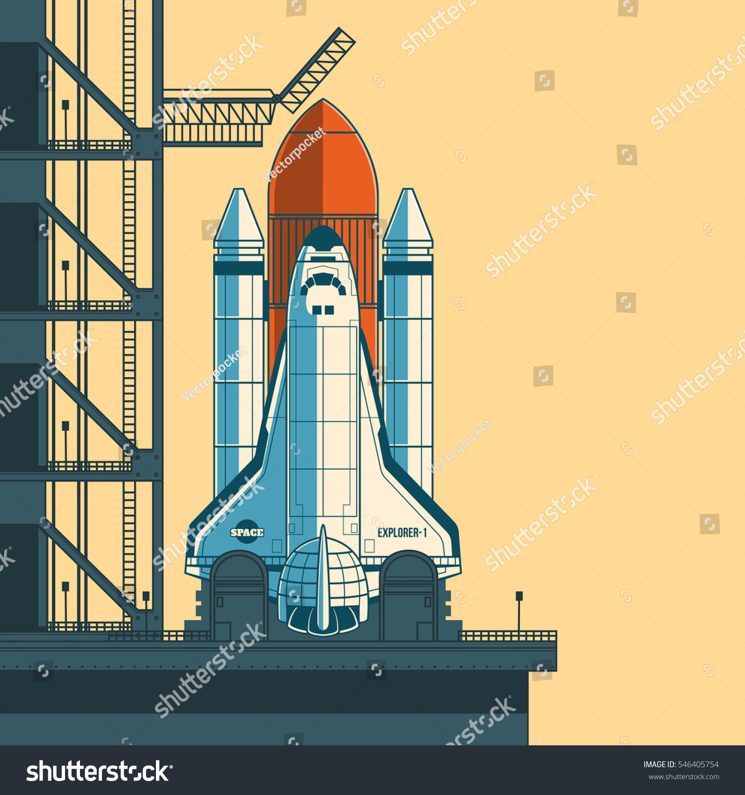 Space Shuttle Launch Pad Vector | www.imgkid.com - The ...