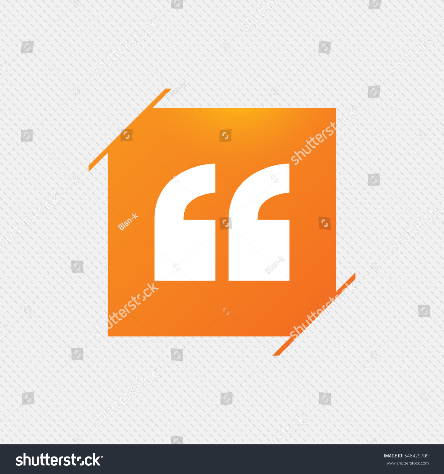 Quote Sign Icon Quotation Mark Symbol Stock Vector 2018 546429709