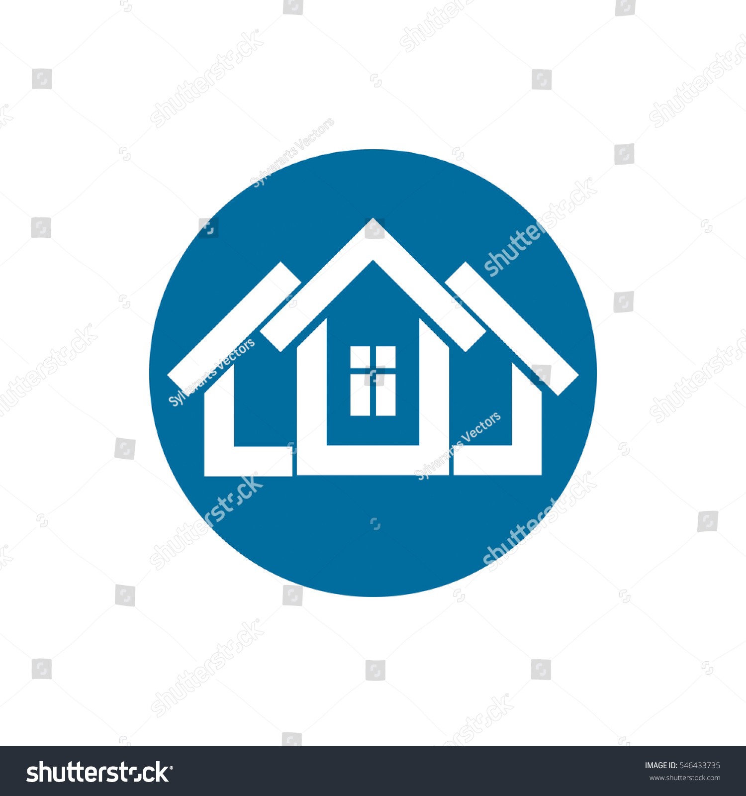 Real estate icon abstract house property stock illustration real estate icon abstract house property developer symbol conceptual sign best for biocorpaavc Image collections