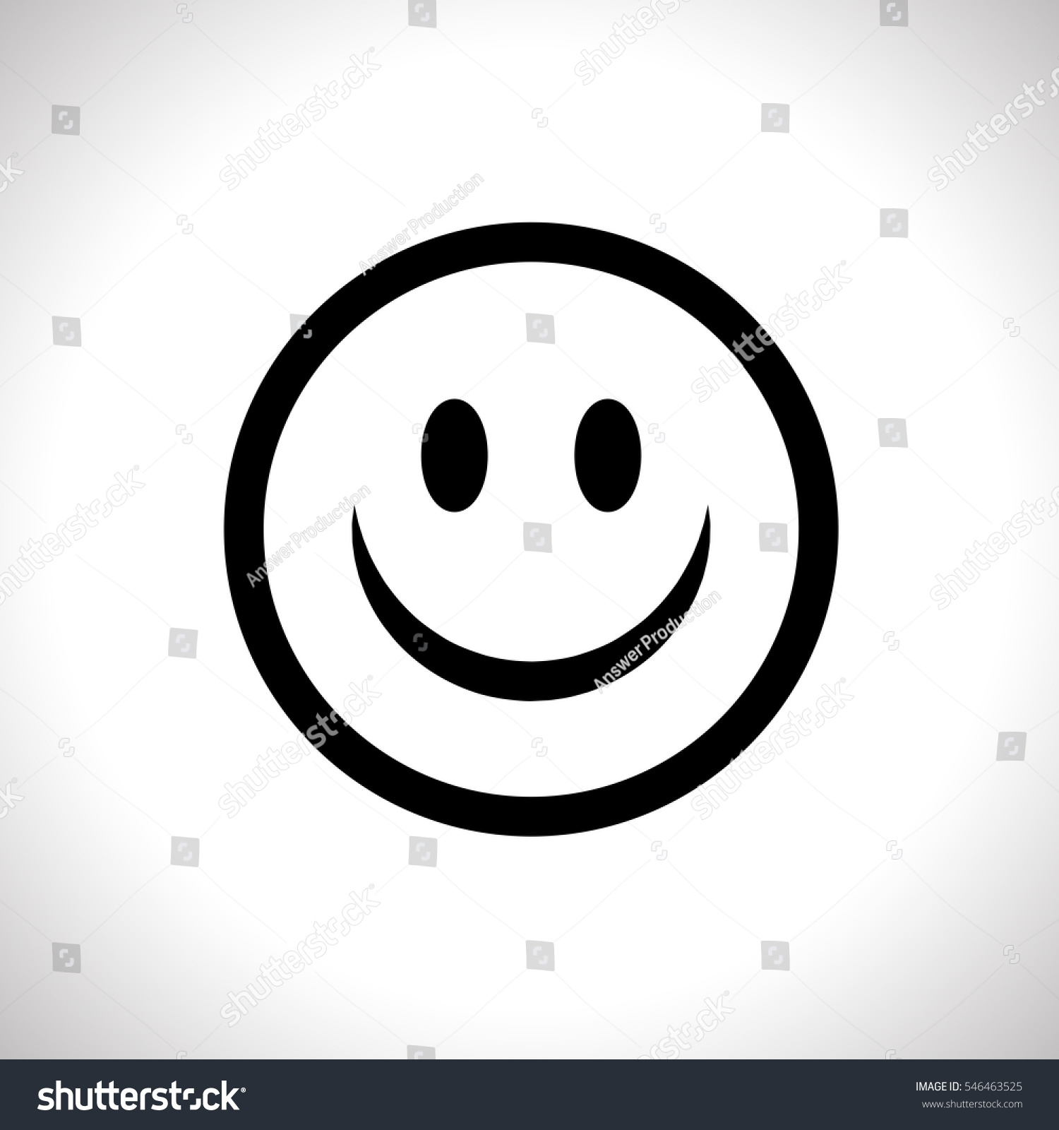 smile iconvector illustration trendy flat style happy face stock
