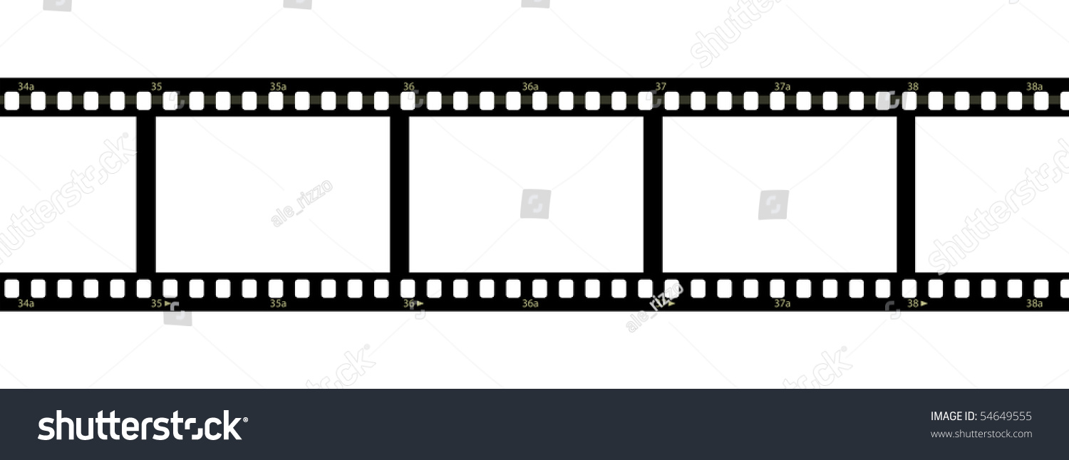 Horizontal filmstrip with blank frames and numbers | EZ Canvas