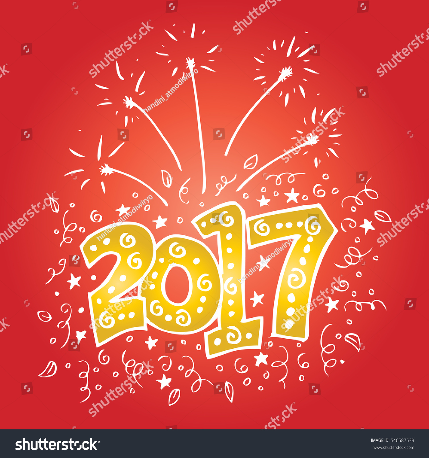 Happy New Year 2017 On Background Stock Vector Royalty Free