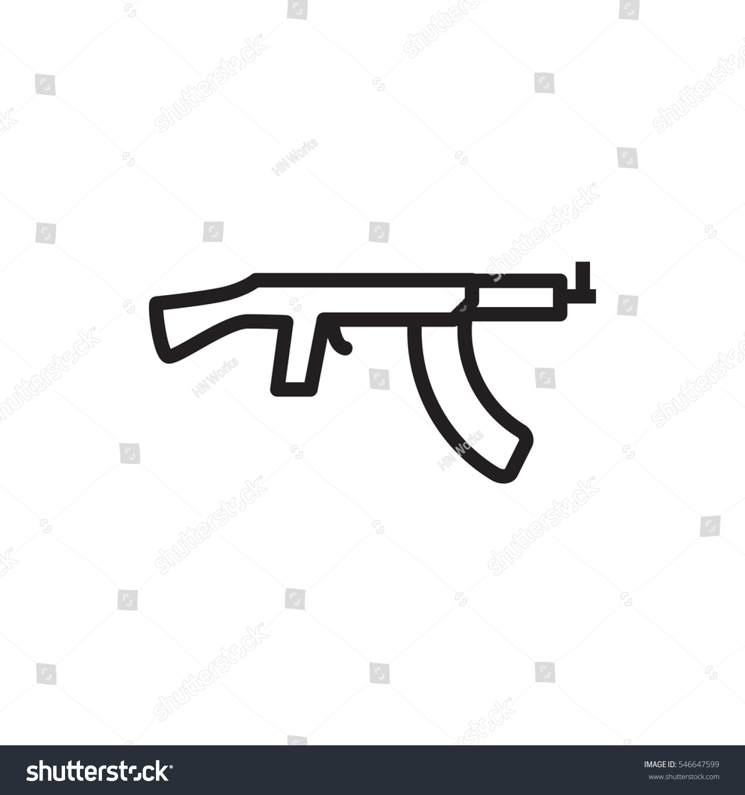 Submachine gun icon illustration isolated vector stock vector sub machine gun icon illustration isolated vector sign symbol biocorpaavc Images