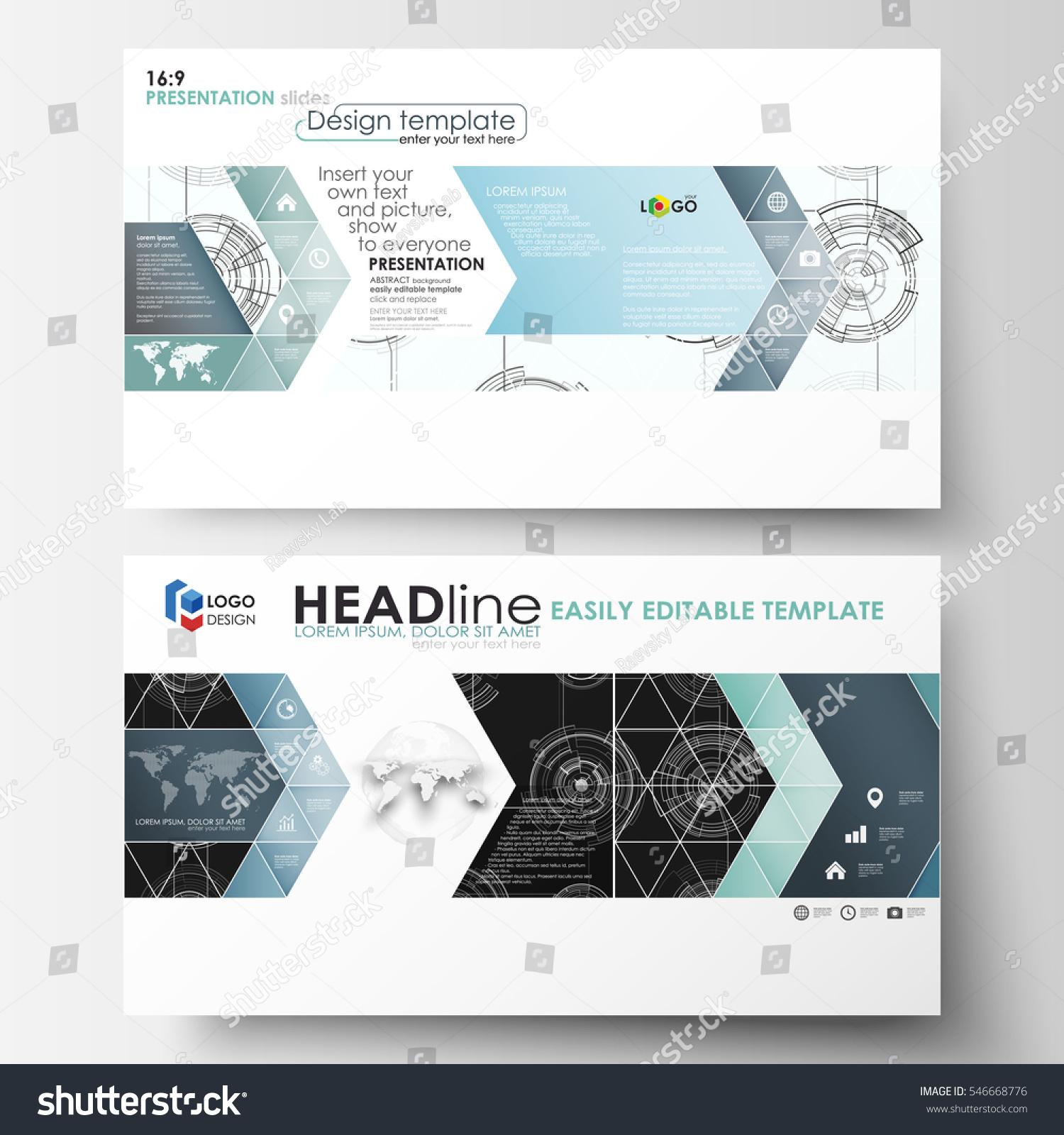 Business Templates HD Format Presentation Slides Stock Vector ...