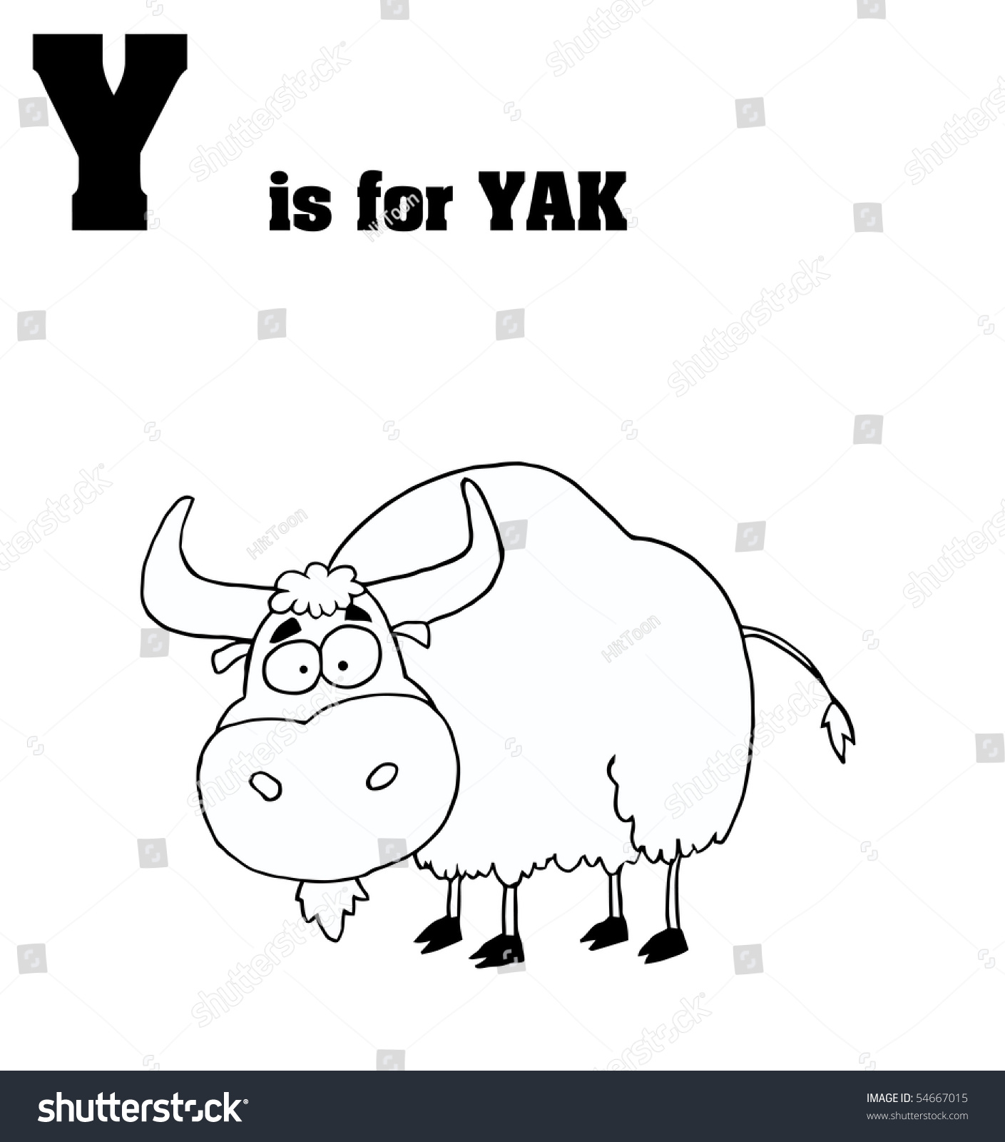 Coloring pages yak - Save To A Lightbox