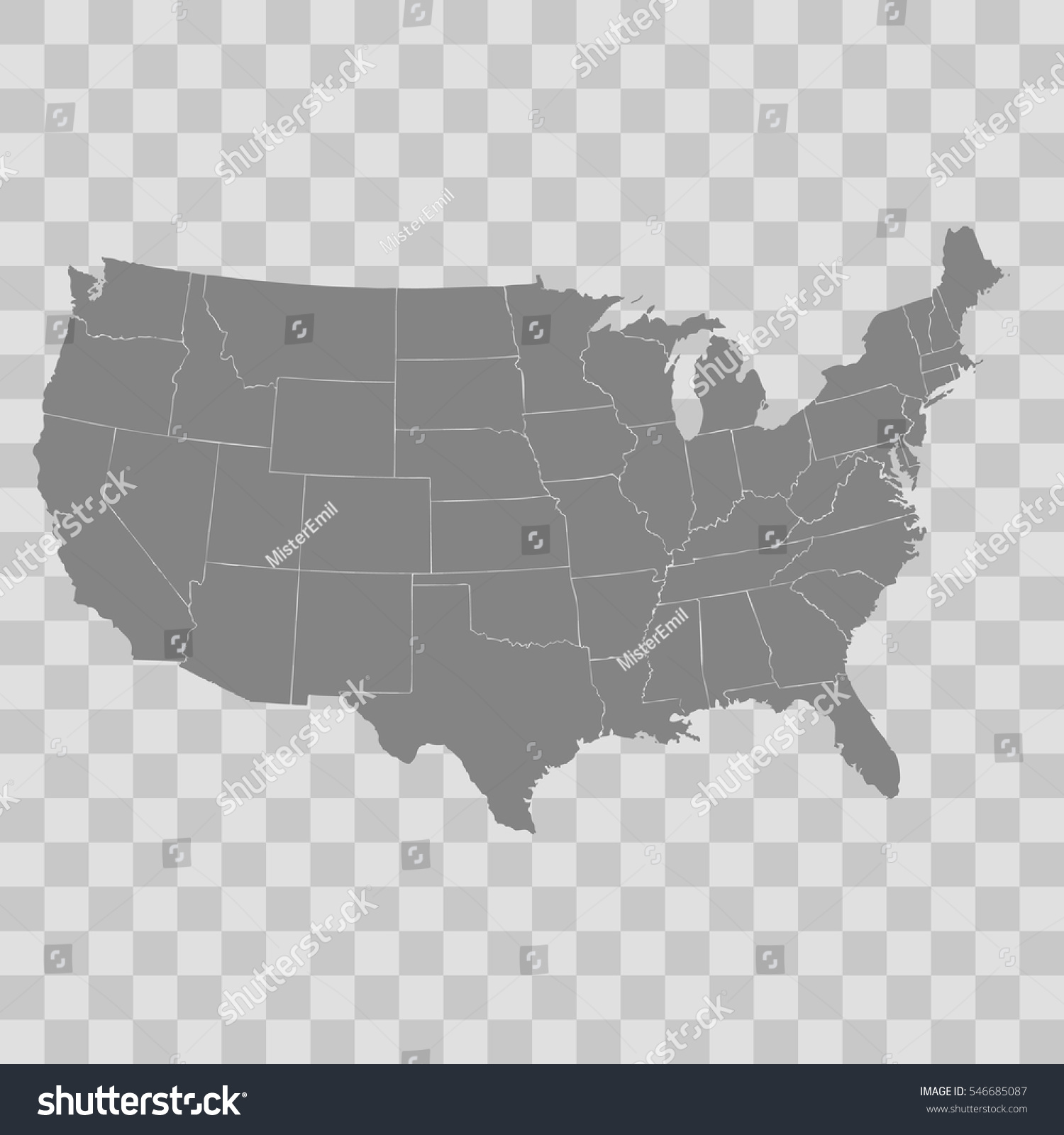 USA Map Icon Free Download At Icons FileUSA Blanksvg Wikimedia - United states map vector free ai
