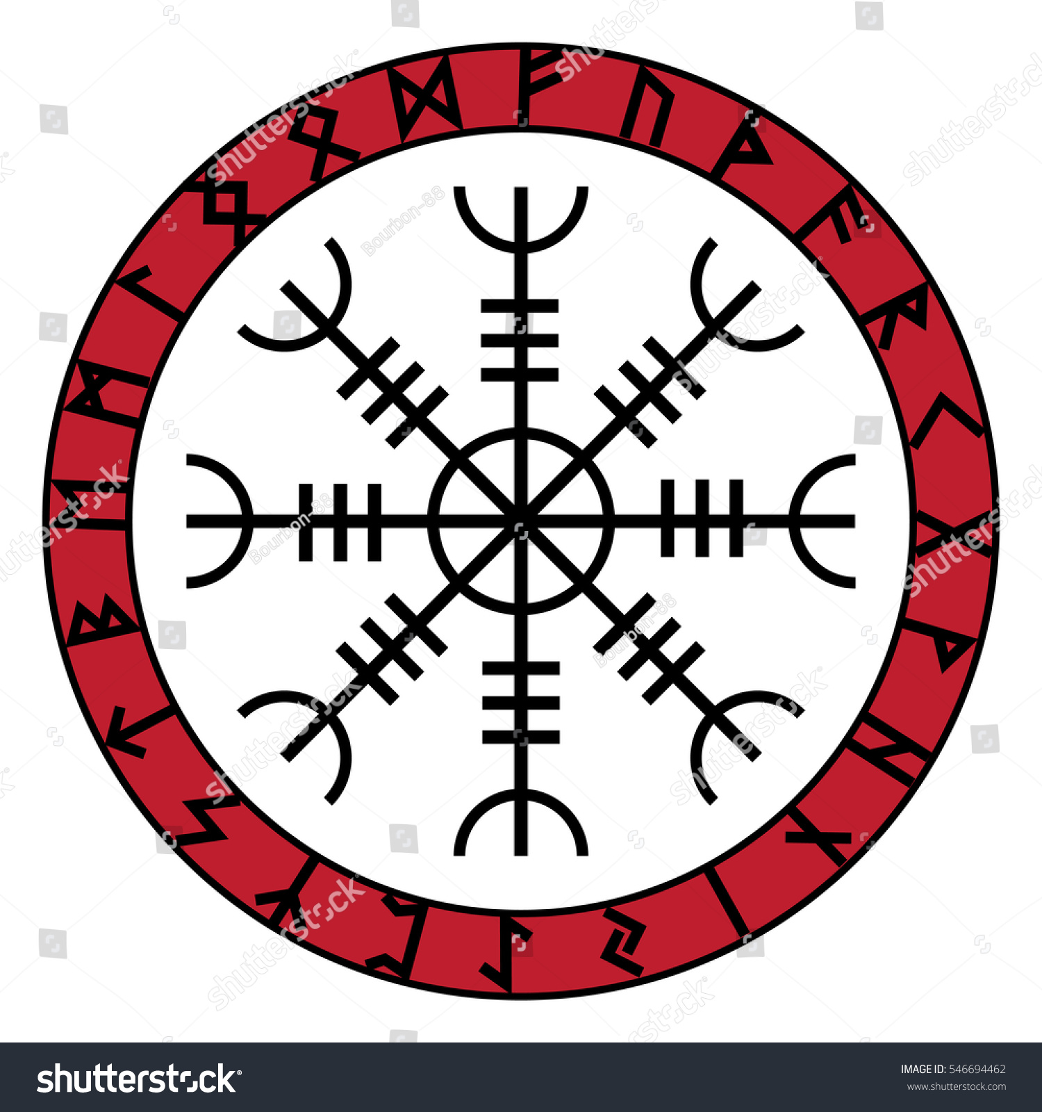 Aegishjalmur Helm Of Awe Helm Of Terror Icelandic Magical Staves
