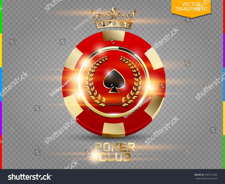 Vip Poker Red Golden Chip Light Stock Vector Royalty Free 546731494