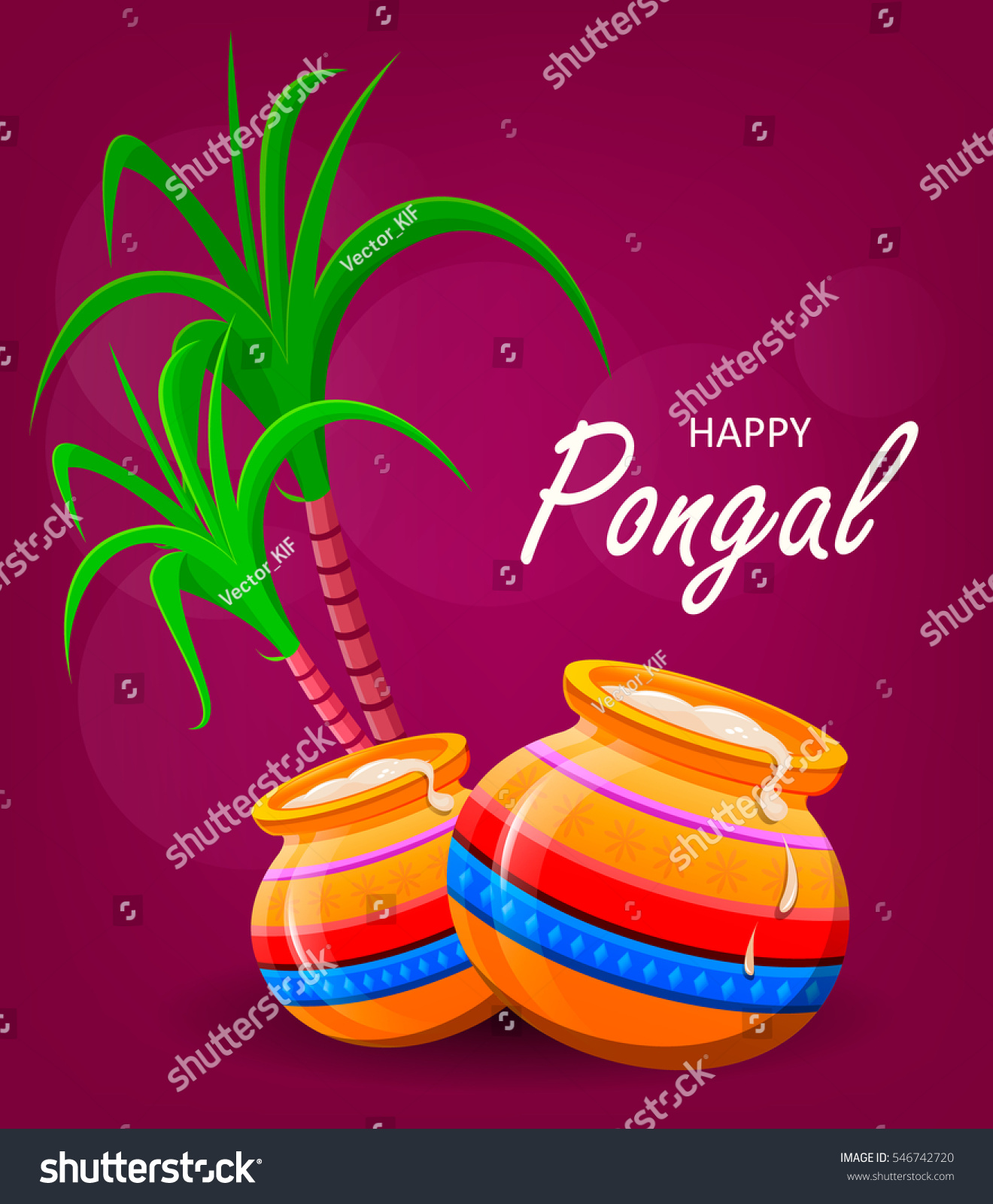 Happy pongal greeting card on violet stock vector royalty free happy pongal greeting card on violet background makar sankranti poster vector illustration m4hsunfo